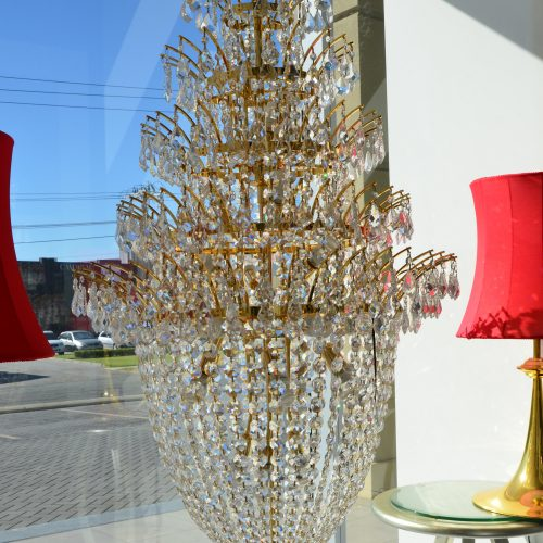Basket 24LT Gold Crystal Chandelier