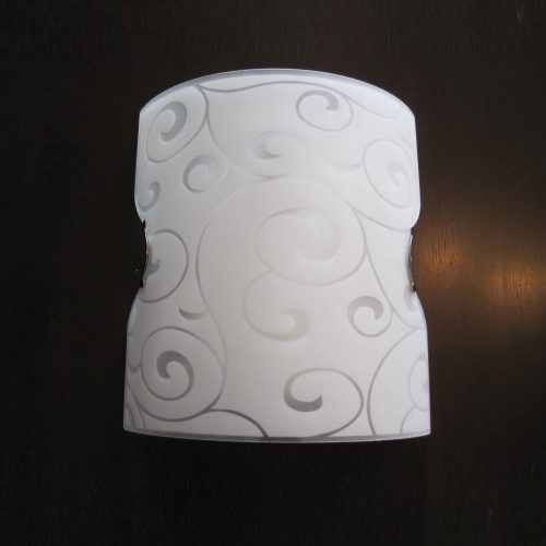 Missy 1LT Patterned Glass Wall Bracket