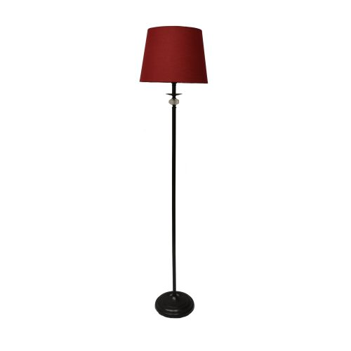 Emily 1LT Red Floor Lamp