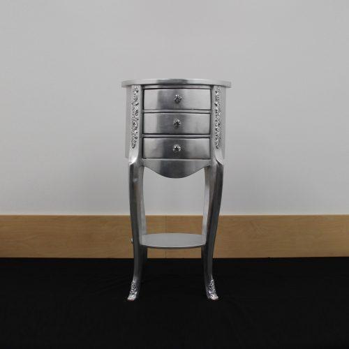 Tinley Silver Corner Cabinet