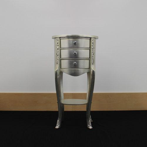Tinley Champagne Corner Cabinet