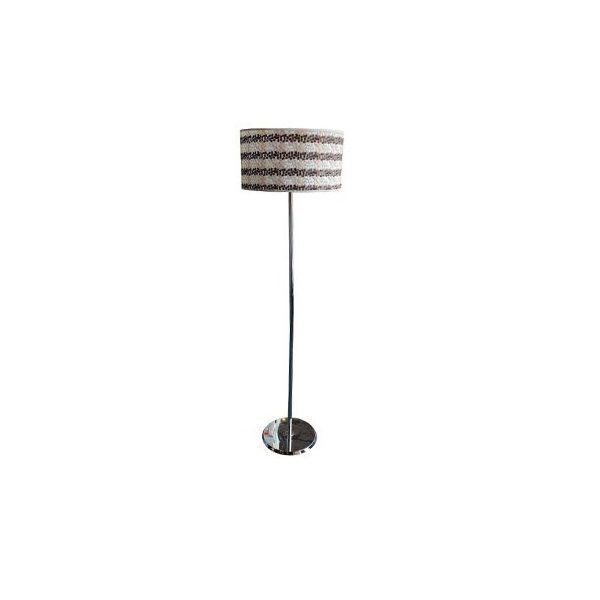 Libra White Pattern Floor Lamp