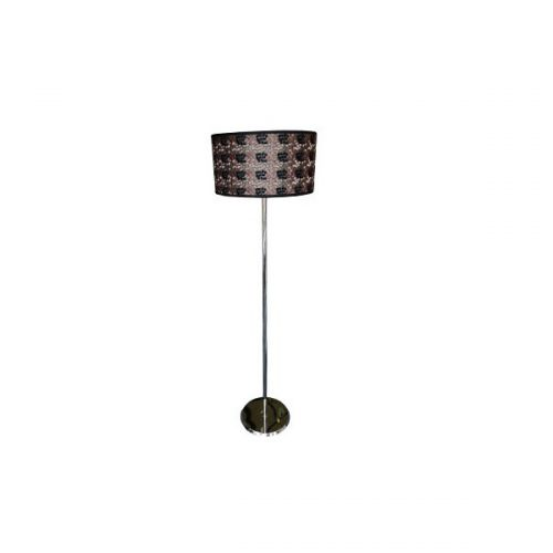 Libra Black Pattern Floor Lamp