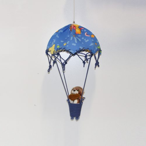 Teddy Bear Blue Hot Air Balloon